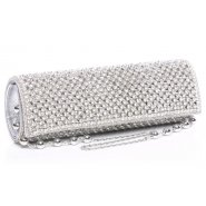 Unze ACCESSORIES Bridal Bags - Silver