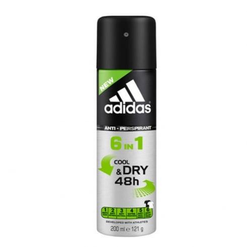 Adidas Fragrances Adidas Cool And Dry 6 En 1 Deodorant Spray 200ml