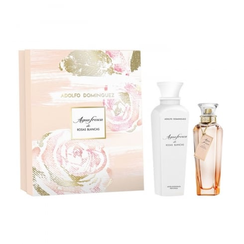 Adolfo Dominguez Agua Fresca De Rosas Blancas EDT Spray 120ml Set 2 Pieces 2017
