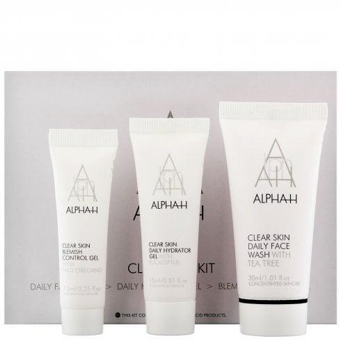 Alpha H Clear Skin Kit - Face Wash 30ml & Hydrator Gel 15ml & Blemish