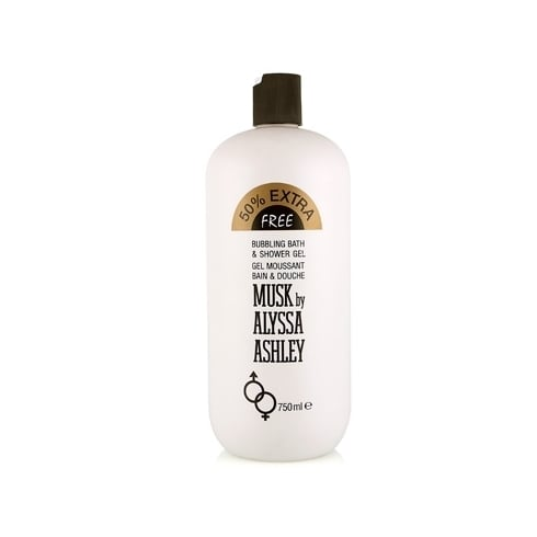 Alyssa Ashley Musk Bubbling Bath And Shower Gel Limited Edition 750ml