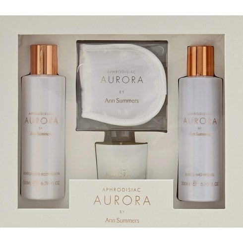 Ann Summers Aphrodisiac Aurora Bath Gift Set 200ml Body Lotion + 200ml Shower Gel + Scented Candle + Eyemask