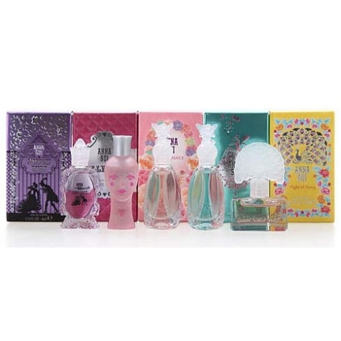 Anna Sui Miniature Gift Set 4ml Dolly Girl EDT + 4ml Flight Of Fancy EDT + 4ml Fairy Dance Secret Wish EDT + 4ml Secret Wish EDT + 4ml Forbidden Affair EDT
