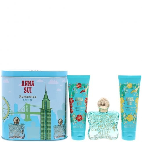 Anna Sui Romantica Exotica Gift Set 50ml EDT + 100ml Body Lotion + 100ml Shower Gel + Music Box