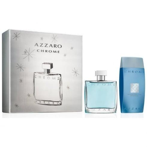 Azzaro Chrome 100ml EDT Spray / 200ml All Over Shampoo