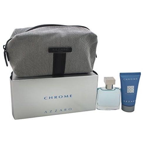 Azzaro CHROME EDT 50ML & ALL OVER SHAMPOO 50ML & TOILETRY BAG