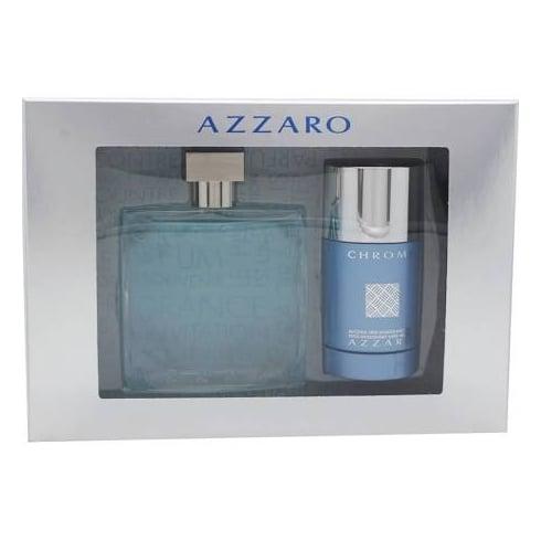 Azzaro Chrome Gift Set 100ml EDT + 75ml Deodorant Stick