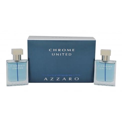 Azzaro Chrome United 2 x 30ml EDT Sprays