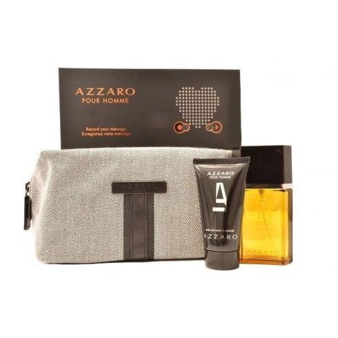 Azzaro Homme EDT 50ml & Hair / Bodyshampoo 50ml & Toiletry Bag