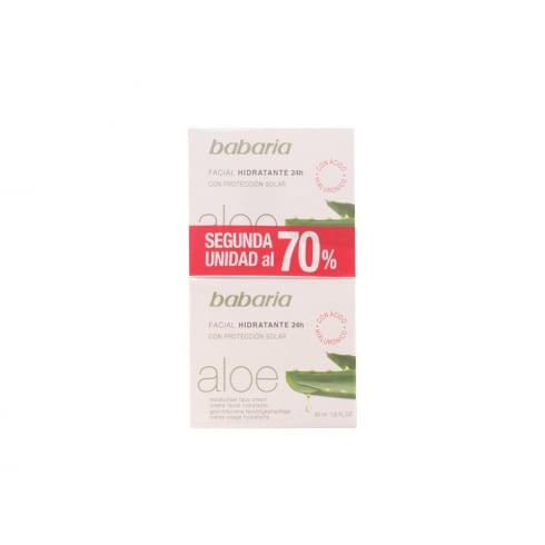Babaria Aloe Vera Face Moisturising Cream 24h Set 2 Pieces