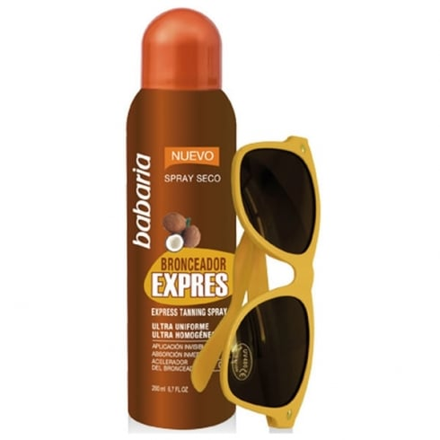 Babaria Express Tanning Spray 200ml And Sunglasses