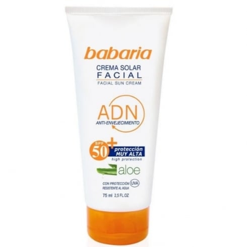 Babaria Facial Sun Cream Aloe Vera SPF50 75ml