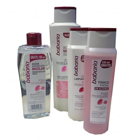 Babaria Rosa Mosqueta Body Milk 400ml Set 4 Pieces