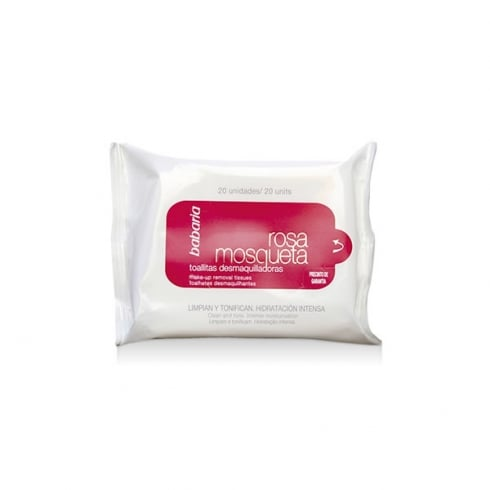 Babaria Rosa Mosqueta Make Up Remover Wipes 20 Units
