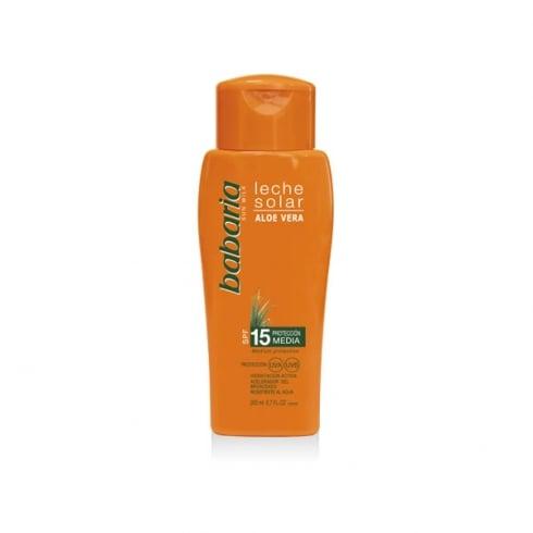 Babaria Sun Milk Aloe Vera SPF15 200ml