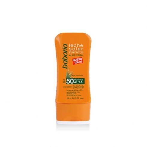Babaria Sun Milk Aloe Vera SPF50 100ml