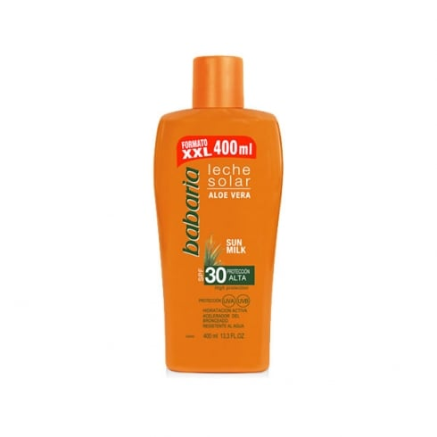 Babaria Sun Milk With Aloe Vera SPF30 400ml