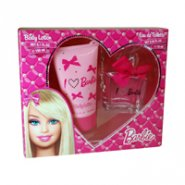 Barbie Gift Set 75ml EDT Spray + 150ml Body Lotion + Charm