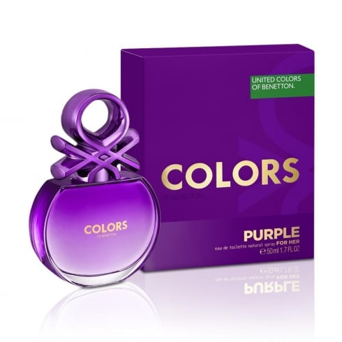 Benetton Colors for Her Purple 50ml EDT Spray