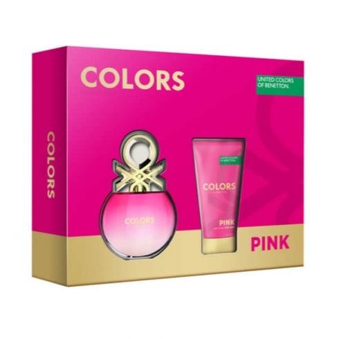 Benetton Colors Pink EDT Spray 50ml Set 2 Pieces 2016