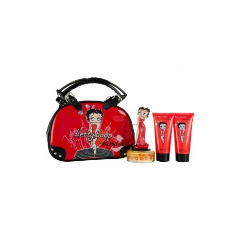 Betty Boop Princess 75ml EDP Spray / 100ml Body Lotion / 100ml Bubble Bath / Bag