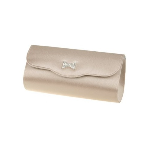Lexus Bianca Womens Elegant Diamond Bow Brooch Clutch