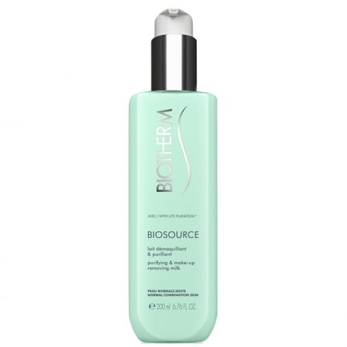 Biotherm Biosource Purifying & Make-up Removing Milk 200ml - Normal/Combination Skin