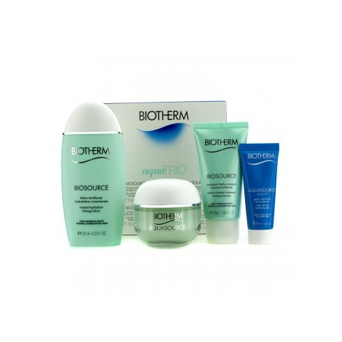 Biotherm Aqua Trio Set Aquasource Gel 50ml + Toning Lotion 125ml + Hydrating Jelly 20ml + Biosource Cleansing Gel 50ml