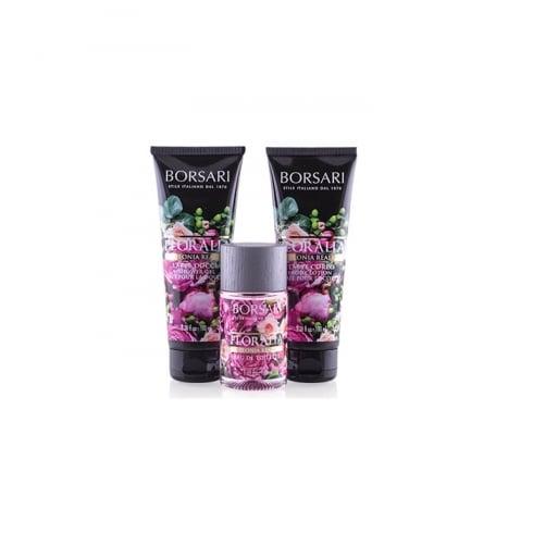 Borsari Floralia Peonia Reale EDT Spray 50ml Set 3 Pieces