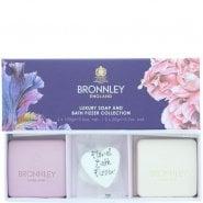 Bronnley Iris & Wild Cassis & Pink Peony & Rhubarb 2 X Soap 100G & 2 X
