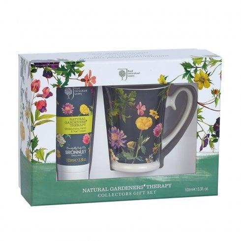 Bronnley Natural Gardeners Therapy Hand Cream 100ml & Mug