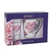 Bronnley Pink Peony & Rhubarb Hand Cream 100ml & Mug