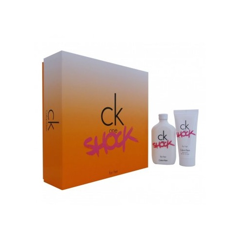 Calvin Klein C.K. One Shock for Her Gift Set 100ml EDT Spray + Body Lotion 100ml