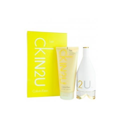 Calvin Klein CK In2u for Her Gift Set 150ml EDT + 200ml Body Lotion