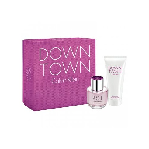 Calvin Klein Downtown Gift Set 50ml EDT Spray + 100ml Body Lotion