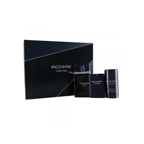 Calvin Klein Encounter Gift Set 100ml EDT Spray + Deodorant 75g + Aftershave Balm 100ml
