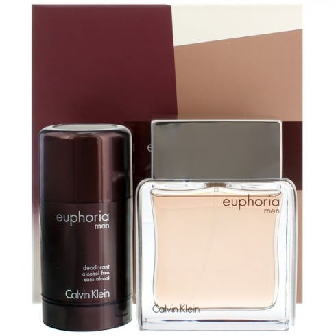 Calvin Klein Euphoria for Men Gift Set - 100ml EDT + 75ml Deodorant Stick