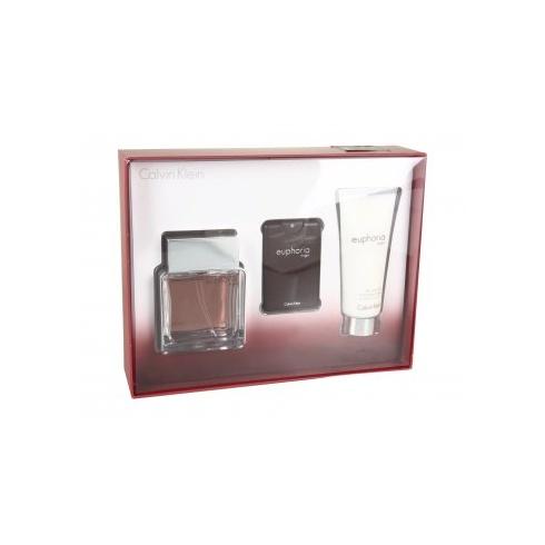 Calvin Klein Euphoria Gift Set 30ml EDT Spray + 15ml EDT Spray + 100ml Aftershave Balm