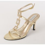 Lexus Cancun Womens Diamond Brooch Strap Heels