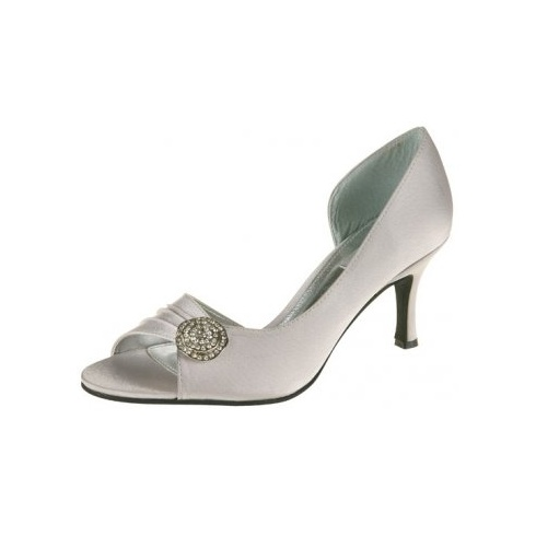 Lexus Cecile Open Peek Toe Diamond Flower Brooch Shoes