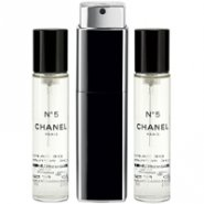 Chanel No 5 Eau Premiere 20ml Refillable EDP Purse Spray with 2 x 20ml Refills
