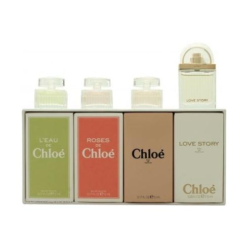 Chloe Miniatures Gift Set 2 X 5ml Chloe EDP + 2 X 5ml Roses De Chloe EDT + 5ml L'Eau De Chloe EDT