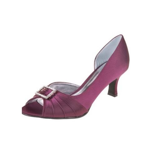 Lexus Christina Womens Open Peek Toe Diamond Bow Heels