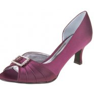 Lexus Christina Womens Open Peek Toe Diamond Bow Heels
