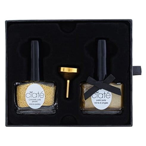 Ciate Caviar Manicure Luxe Lustre Gold Gift Set 13.5ml Nail Polish in Ladylike Luxe + 60g Caviar Luxe Pearls + Funnel