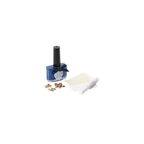 Ciate Ciaté Denim Manicure Kit Gift Set 13.50ml Nail Polish in Regatta + 1 x Grip Glue + 30 x Studs + 2 x Water Transfers
