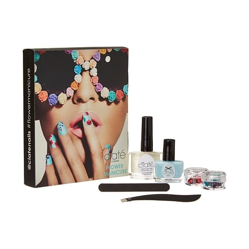 Ciate Flower Manicure Bada-A-Boom Gift Set 13.5ml Speed Coat Pro Fast Dry Top Coat + 5ml Mini Paint Pot in Blue + Tweezers + Emery Board + Flower Details