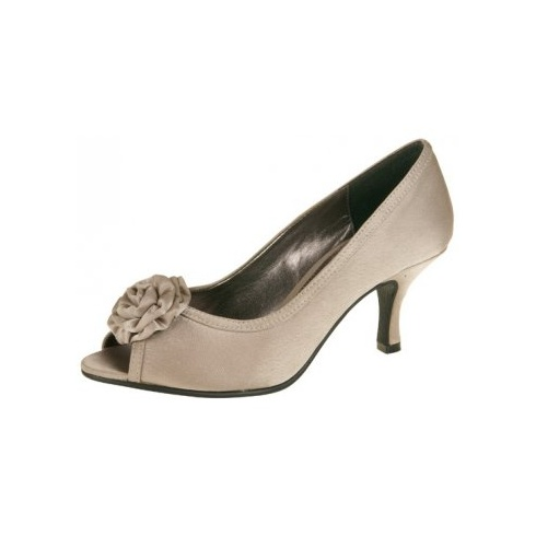 Lexus Claudia Womens Open Peek Toe Flower Bow Shoes