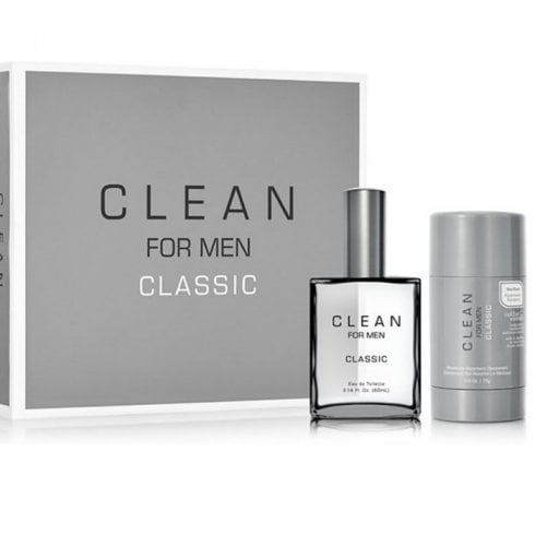 Clean For Men Classic Set:EDT 60ml+Deo