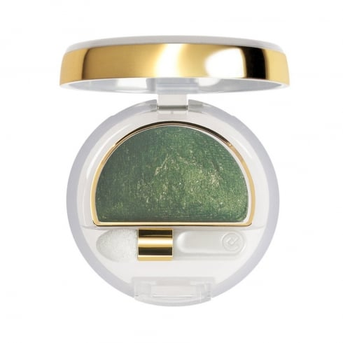 Collistar Double Effect Eyeshadow Wet And Dry 10 Golden Green